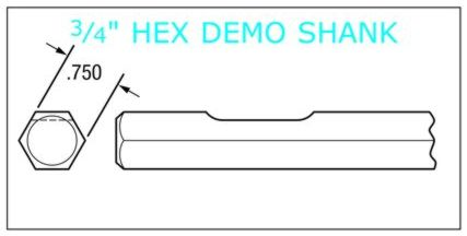 3/4 hex demo shank chisels