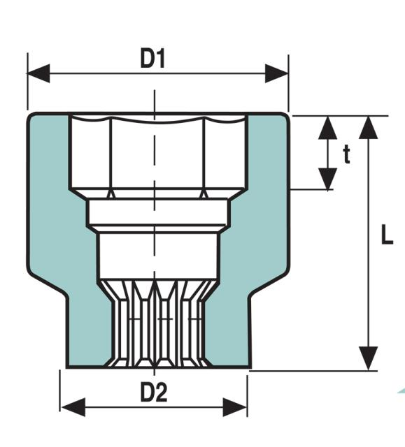 spline drive socket